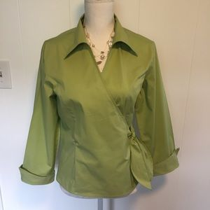 Dress Barn Tops - Dress Barn wrap top size large.